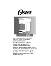 Oster 4749 Instruction Manual And Recipe Book