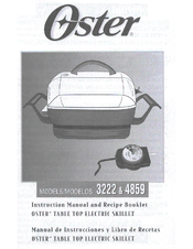 Oster 4858 Instruction Manual And Recipe Booklet