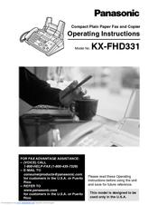 panasonic kx fhd331 operating instructions manual pdf download rh manualslib com Panasonic Kx Fhd331 Film Panasonic Kx Fhd331 Fax Film