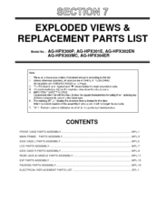 Panasonic AG-HPX301E Replacement Parts List Manual
