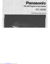 Panasonic RC-6088 Operating Instructions Manual