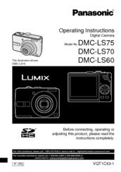 panasonic lumix dmc ls75 manuals rh manualslib com Panasonic TV Manual Panasonic Aw-Ph350 Manual
