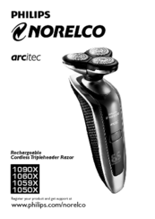 Visit the support page for your philips arcitec electric shaver.