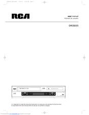 rca drc8335 dvd recorder vcr combo manuals rh manualslib com TV VCR Combo Panasonic DVD VCR Combo
