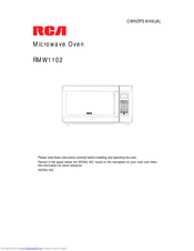 RCA RMW1102 Owner's Manual