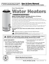 rheem water heater manual pdf