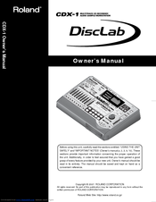 Roland CDX-1 DiscLab OWNER/'S MANUAL