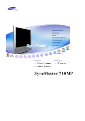 Samsung SyncMaster 710MP User Manual