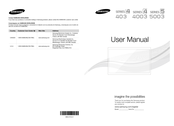 Samsung LN32D5003 User Manual