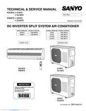 sanyo ks2472 technical & service manual (117 pages)  dc inverter split  system air conditioner