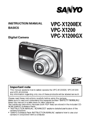 Sanyo VPC-X1200EX User Manual