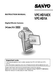 sanyo vpc hd1a manuals rh manualslib com Sanyo Xacti CG10 Manual Sanyo Xacti VPC-CG10