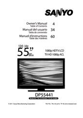 sanyo dp55441 manuals rh manualslib com Walmart Sanyo Television DP55441 Parts