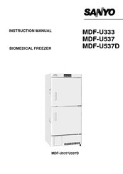 Sanyo MDF-U537D Instruction Manual