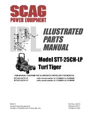 SCAG POWER EQUIPMENT TURF TIGER STT-25CH-LP ILLUSTRATED