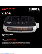 sirius satellite radio xtr3ck instruction manual pdf download rh manualslib com Xact Sirius Satellite Radio Car Xact Sirius Accessories