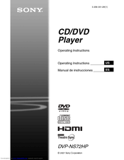 sony dvp ns72hp operating instructions manual de instrucciones manuals rh manualslib com Sony DVD Player DVP-FX780 Sony DVP FX930 Battery