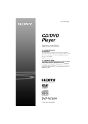 sony dvp nc85h operating instructions manual pdf download rh manualslib com Sony 5 Disc DVD Changer sony dvp-nc85h manual
