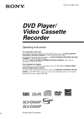 Sony D350P Operating Instructions Manual