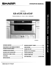 Sharp KB-6525PS Operation Manual