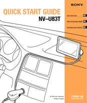 Sony NAV-U NV-U83T Quick Start Manual