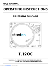 Stanton T.12OC Operating Instructions Manual