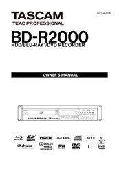 tascam bd-r2000 pdf