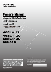 Toshiba 40SL412UM Owner's Manual