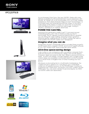 Sony VAIO VPCL237FX/B Specification Sheet
