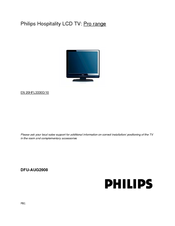 Philips 20HFL3330D/10 User Manual