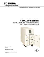 toshiba uninterruptible power system 1600xp installation and  toshiba uninterruptible power system 1600xp installation and operation manual pdf download