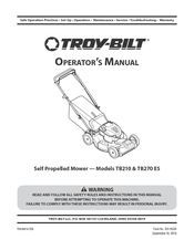 troy bilt tb200 manuals rh manualslib com Troy-Bilt Bronco Mower Parts Troy-Bilt Pony Mower Parts