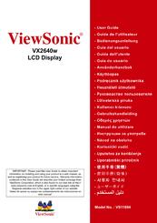 viewsonic vx2433wm 23 6 lcd monitor manuals rh manualslib com viewsonic monitor vx2433wm manual viewsonic vx2433wm manual 2009