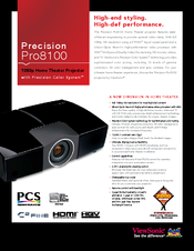 ViewSonic Pro8100 Specification Sheet