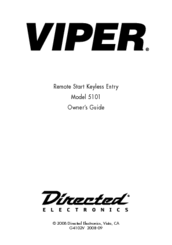 Viper 5101 Manuals on viper tools, viper antenna, viper tires, viper seats, viper interior, viper chassis, viper blue, viper electrical, viper exhaust,