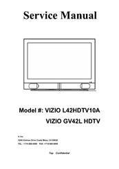 vizio gv42l hdtv service manual pdf download rh manualslib com Vizio VX37L Service Manual Vizio LCD HDTV User Manual
