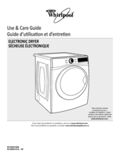 Whirlpool WED95HEXW Use & Care Manual