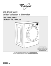 Whirlpool W10385092A Use & Care Manual