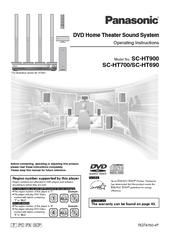 PANASONIC SC-HT900 OPERATING INSTRUCTIONS MANUAL Pdf Download. on