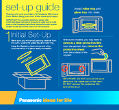 Panasonic Genius NN-SN667B Setup Manual