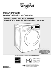 Whirlpool W10254493B Use And Care Manual