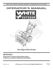 white outdoor two stage snow blower manuals rh manualslib com White Snowblower Co White Snow Thrower Parts