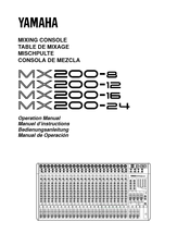 Yamaha MCX-P200 Operation Manual