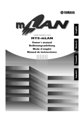 Yamaha MY8-mLAN Owner's Manual