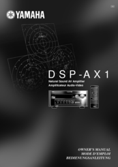 Yamaha DSP-AX1 Owner's Manual