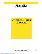 Zanussi ZCOF636X Instruction Book
