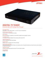 zenith dtt901 manuals rh manualslib com Digital TV Converter Box Cable Converter Box