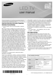 Samsung UN50EH6000F User Manual
