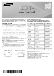 Samsung UN40EH6000 User Manual
