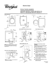 Whirlpool WED9250W Dimensions And Installation